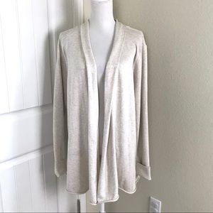 SALE Natural Reflection Open Front Cardigan Beige